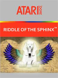 Box cover for Riddle of the Sphinx on the Atari 2600.