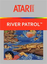 Box cover for River Patrol on the Atari 2600.