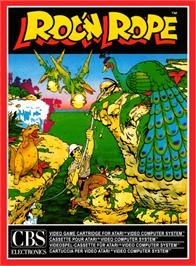 Box cover for Roc 'N Rope on the Atari 2600.