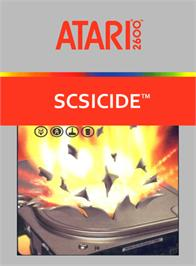 Box cover for SCSIcide on the Atari 2600.