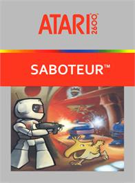 Box cover for Saboteur on the Atari 2600.