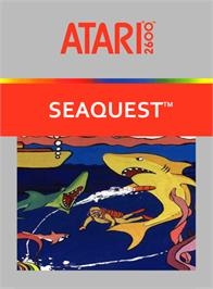 Box cover for Seaquest on the Atari 2600.