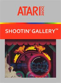 Box cover for Shootin' Gallery on the Atari 2600.