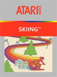 Box cover for Skiing on the Atari 2600.