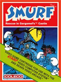 Box cover for Smurf: Rescue in Gargamel's Castle on the Atari 2600.