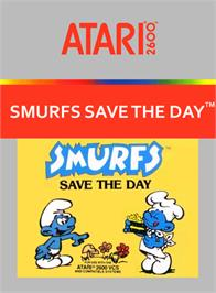 Box cover for Smurfs Save the Day on the Atari 2600.