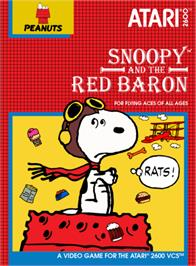 Box cover for Snoopy and the Red Baron on the Atari 2600.