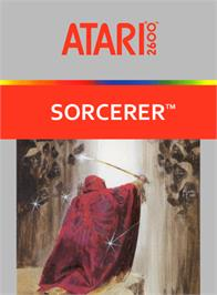 Box cover for Sorcerer on the Atari 2600.