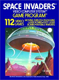 Box cover for Space Invaders on the Atari 2600.