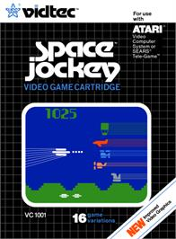 Box cover for Space Jockey on the Atari 2600.