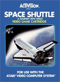 Box cover for Space Shuttle: A Journey into Space on the Atari 2600.