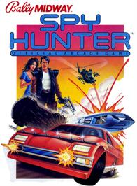 Box cover for Spy Hunter on the Atari 2600.