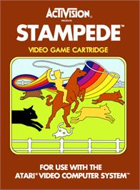 Box cover for Stampede on the Atari 2600.