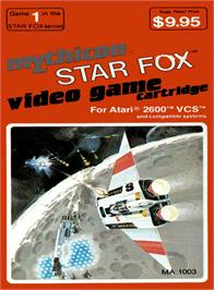 Box cover for Star Fox on the Atari 2600.