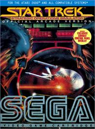 Box cover for Star Trek: Strategic Operations Simulator on the Atari 2600.