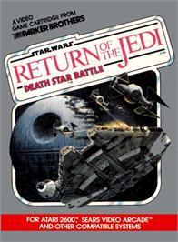 Box cover for Star Wars: Return of the Jedi - Death Star Battle on the Atari 2600.