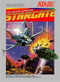 Box cover for Stargate on the Atari 2600.