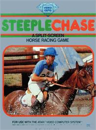 Box cover for Steeplechase on the Atari 2600.