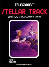 Box cover for Stellar Track on the Atari 2600.