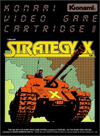 Box cover for Strategy X on the Atari 2600.