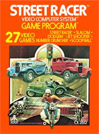Box cover for Street Racer on the Atari 2600.