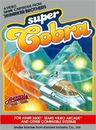 Box cover for Super Cobra on the Atari 2600.