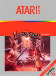 Box cover for SwordQuest: FireWorld on the Atari 2600.