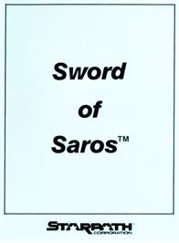 Box cover for Sword of Saros on the Atari 2600.