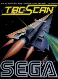 Box cover for Tac-Scan on the Atari 2600.