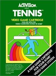 Box cover for Tennis on the Atari 2600.