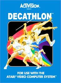 Box cover for The Activision Decathlon on the Atari 2600.