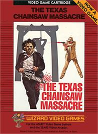 Box cover for The Texas Chainsaw Massacre on the Atari 2600.