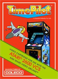 Box cover for Time Pilot on the Atari 2600.