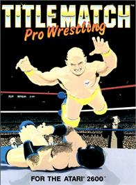 Box cover for Title Match Pro Wrestling on the Atari 2600.