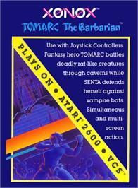 Box cover for Tomarc the Barbarian on the Atari 2600.