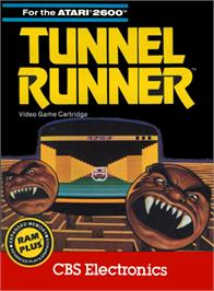 Box cover for Tunnel Runner on the Atari 2600.