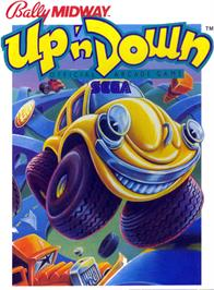 Box cover for Up 'n Down on the Atari 2600.