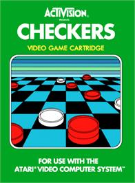Box cover for Video Checkers on the Atari 2600.