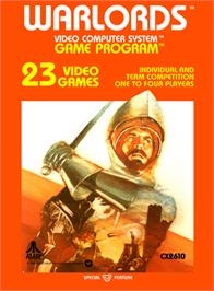Box cover for Warlords on the Atari 2600.