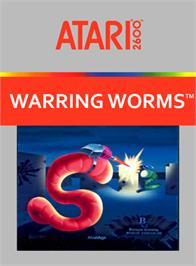 Box cover for Warring Worms on the Atari 2600.