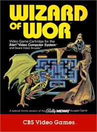 Box cover for Wizard of Wor on the Atari 2600.