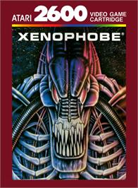 Box cover for Xenophobe on the Atari 2600.