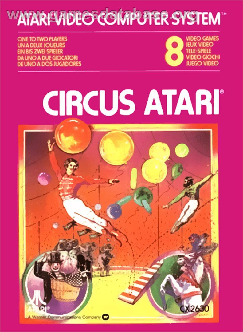 Box cover for Circus Atari on the Atari 2600.