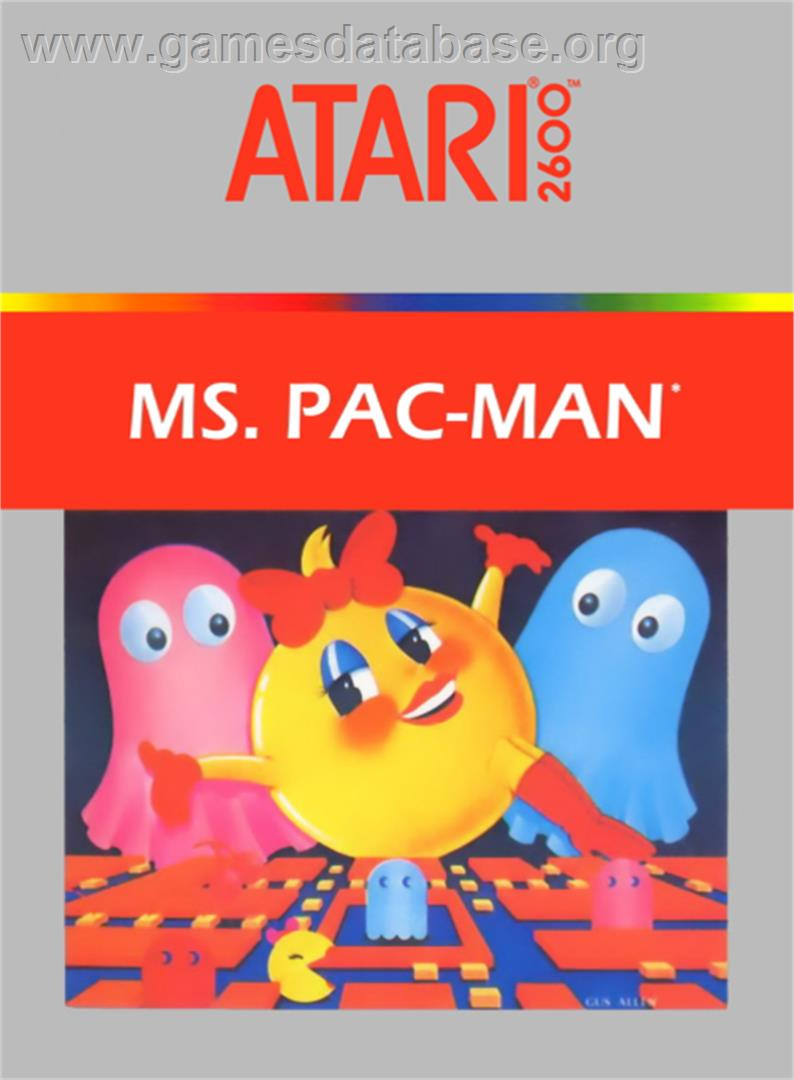 Ms. Pac-Man - Atari 2600 - Artwork - Box