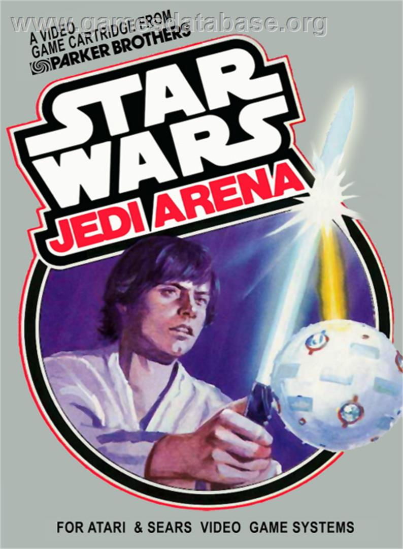 Box cover for Star Wars: Jedi Arena on the Atari 2600.