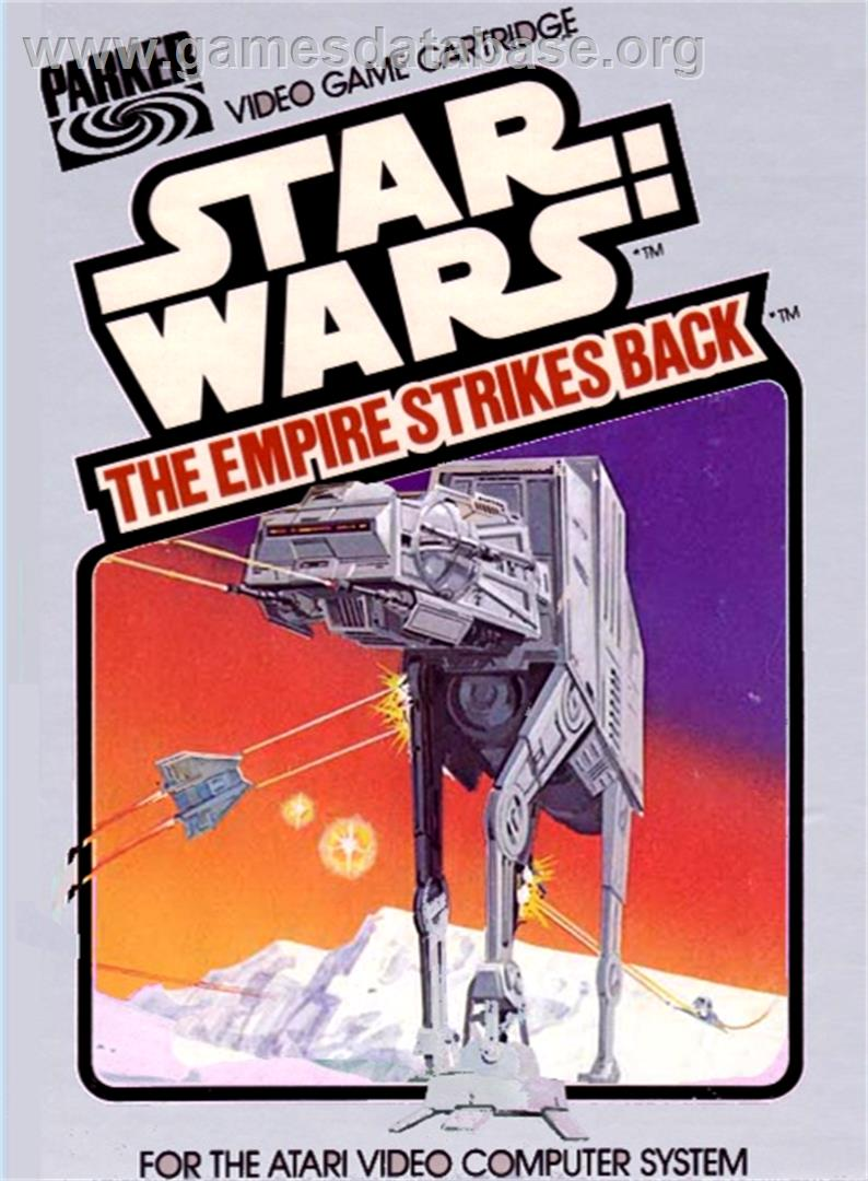 Box cover for Star Wars: The Empire Strikes Back on the Atari 2600.