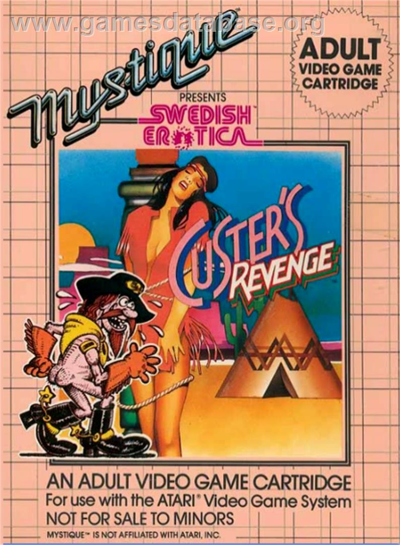 Swedish Erotica: Custer's Revenge - Atari 2600 - Artwork - Box
