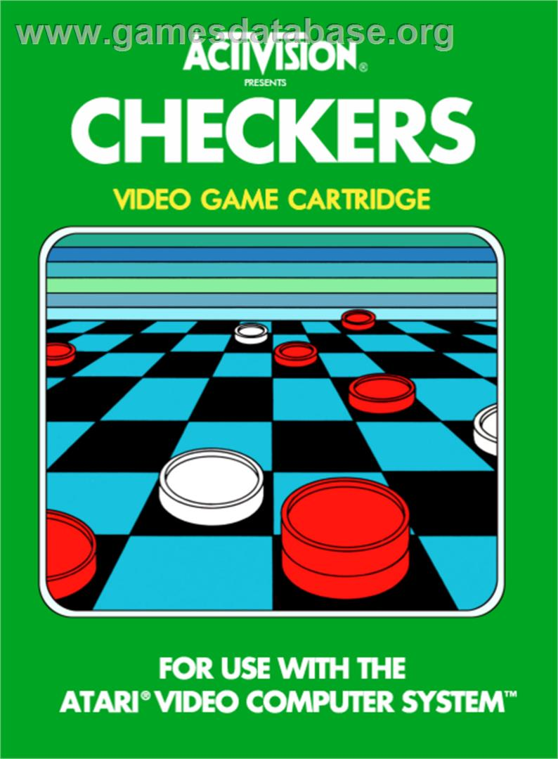 Video Checkers - Atari 2600 - Artwork - Box
