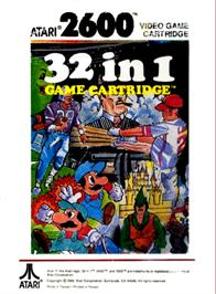 Box back cover for 32 in 1 Game Cartridge on the Atari 2600.