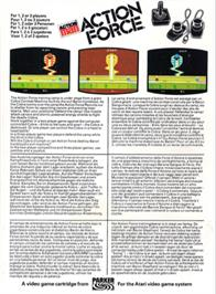 Box back cover for Action Pak on the Atari 2600.